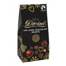 Divine Dark Chocolate Hearts - 100g