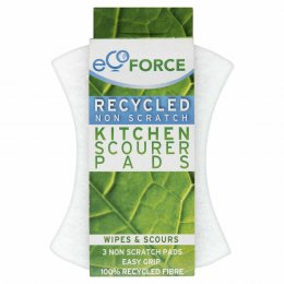 EcoForce Recycled Scourers - Non Scratch - Pack of 3