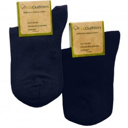 Organic Cotton Navy School Socks