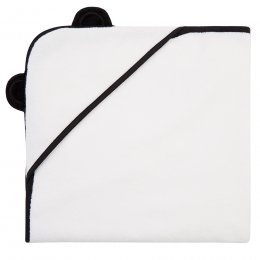 Panda White Bamboo Hooded Towel Newborn - 75 X 75