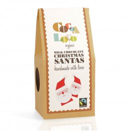 Cocoa Loco Milk Chocolate Santas - 100g