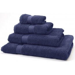 Natural Collection Organic Cotton Shower Towel - Navy