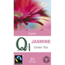 QI Organic Fairtrade Jasmine Green Tea - 25 Bags