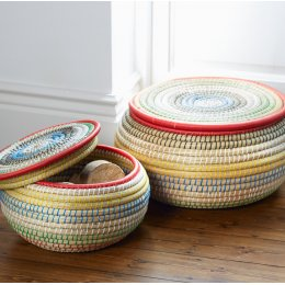 Colourful Stacking Baskets - Set of 2