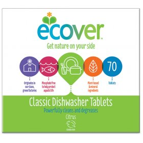 Ecover Dishwasher Tablets XL Pack - Pack of 70