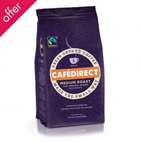 Cafedirect Medium Roast  Fresh Ground Fairtrade Coffee - 227g