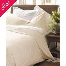 Natural Collection Organic Cotton King Fitted Sheet - Ecru
