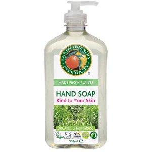 Earth Friendly Organic Handsoap - Lemongrass - 500ml