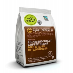 Equal Exchange Organic Espresso Coffee Whole Beans - 1kg