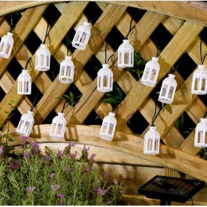 Smart Solar Moroccan Lantern String Lights - Pack of 16