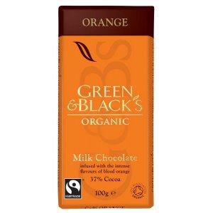 Green & Blacks Milk Chocolate with Orange - 100g