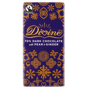 Divine Limited Edition Dark Chocolate with Pear & Ginger 100g