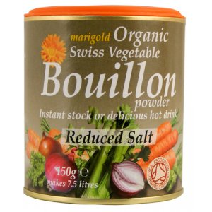 Marigold Organic Bouillon Powder - Reduced Salt - 150g
