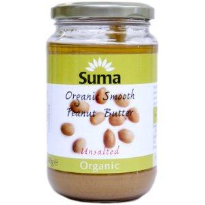 Suma Organic Peanut Butter - Smooth - Unsalted - 340g