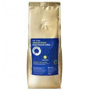 Traidcraft Fairtrade Medium Roast Ground Coffee Catering Pack - 1kg