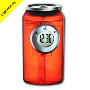 H2O Water Powered Can Clock - Red