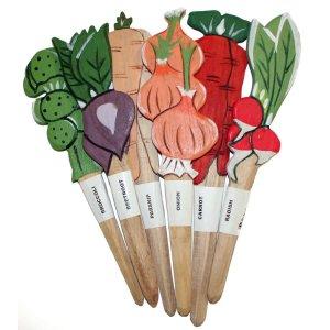 Set of 6 Veggie Stick Garden Markers