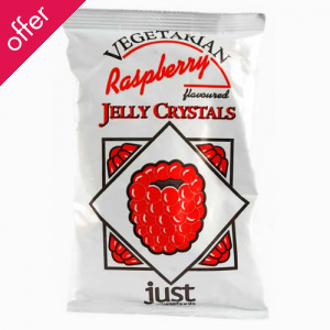 Just Wholefoods Jelly Crystals - Raspberry - 85g