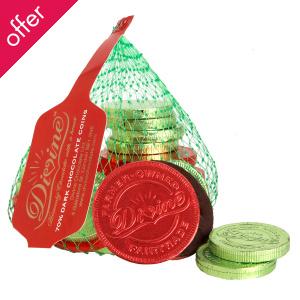 Divine Fairtrade 70% Dark Chocolate Coins - 70g