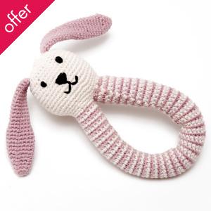 Fair Trade & Organic Pink Bunny Rattle