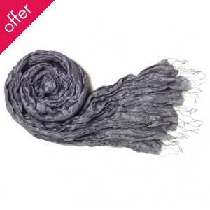 Traidcradft Silver Silk Scarf