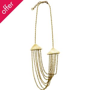 Just Trade Triangle Cascade Necklace