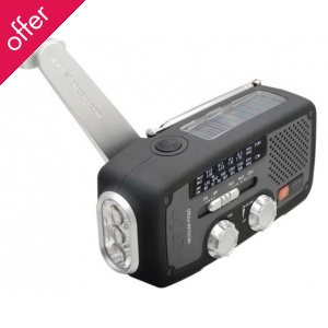 Eton FR160 Wind-up, Solar Powered, Radio, Torch & Mobile Phone Charger