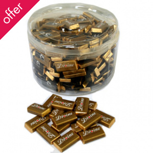 Divine Milk Chocolate Minis - Pack of 200 Mini Bars