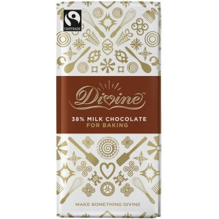 Divine 38% Milk Chocolate Bar. Brilliant For Baking