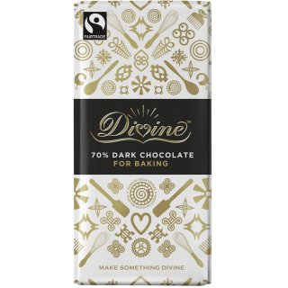 Divine 70% Dark Chocolate Bar. Brilliant for Baking