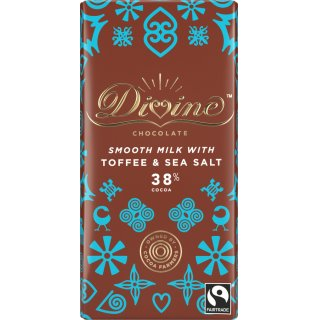 Divine 38% Milk Chocolate with Toffee & Sea Salt