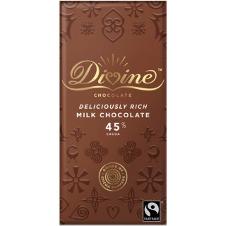 Divine High Cocoa Milk Chocolate 45%