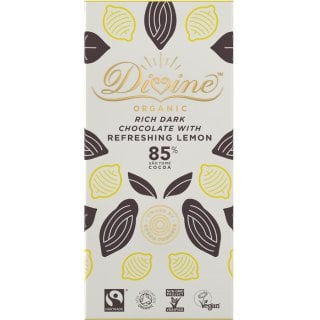 Organic 85% Dark Chocolate with Lemon - 80g