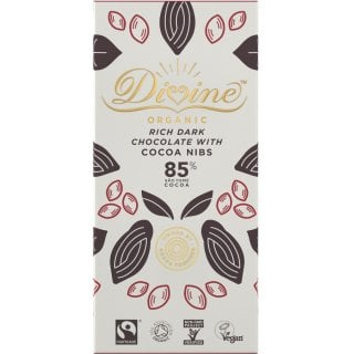 Organic 85% Dark Chocolate with Cocoa Nibs - 80g