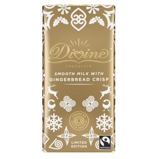 Divine Limited Edition Gingerbread Crisp Chocolate Sharing Bar
