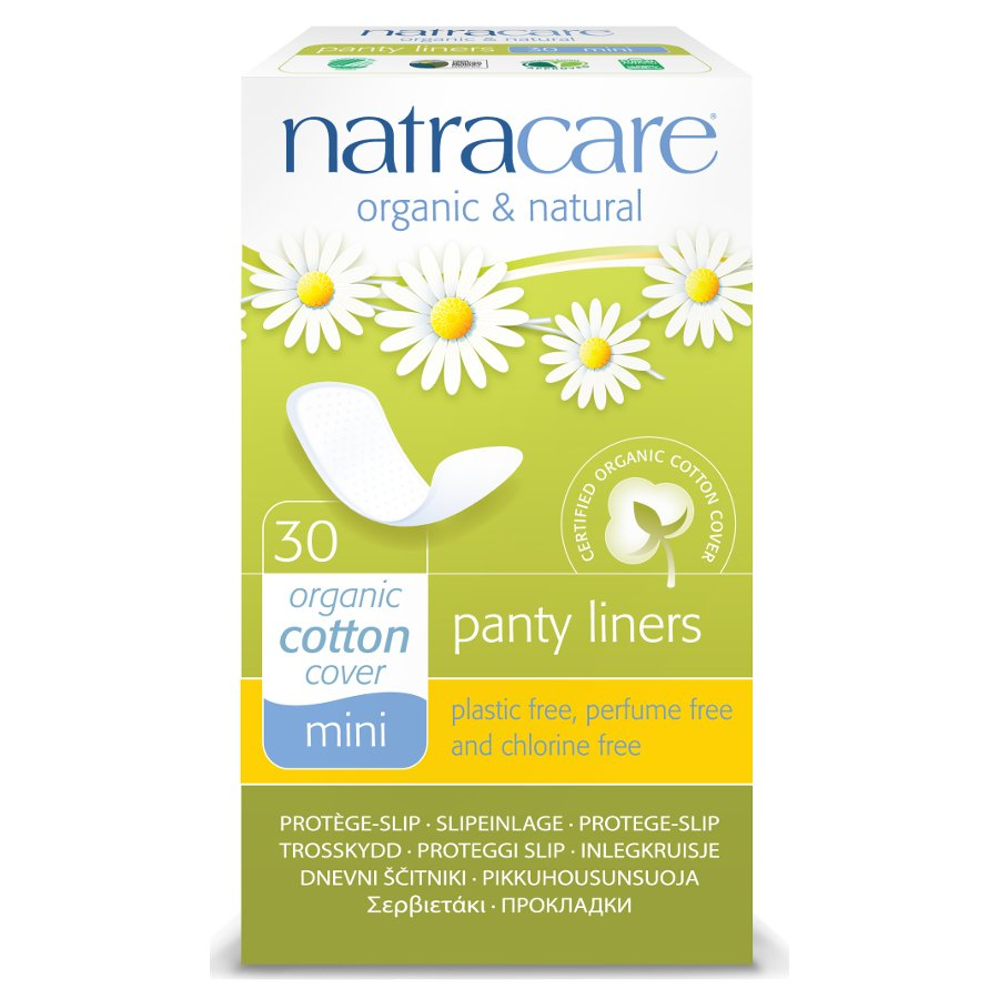 natracare organic cotton panty liners - mini - pack of 30 - natracare