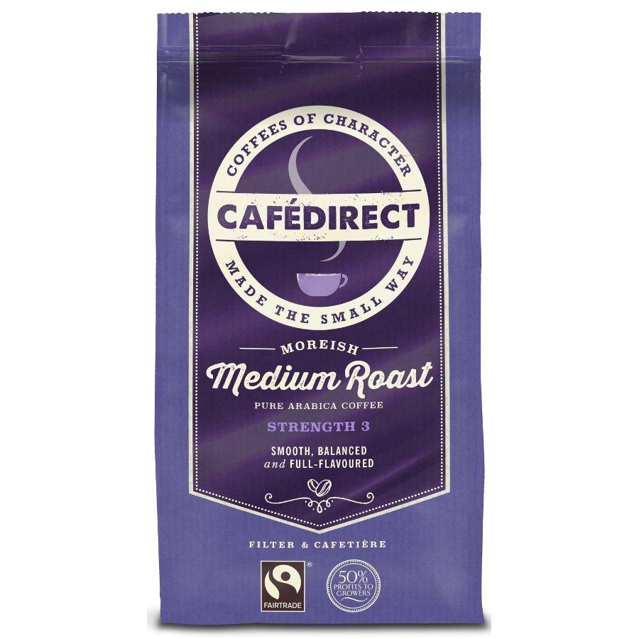 Fair Trade Coffee ~ Cafedirect medium roast fresh ground fairtrade coffee g
