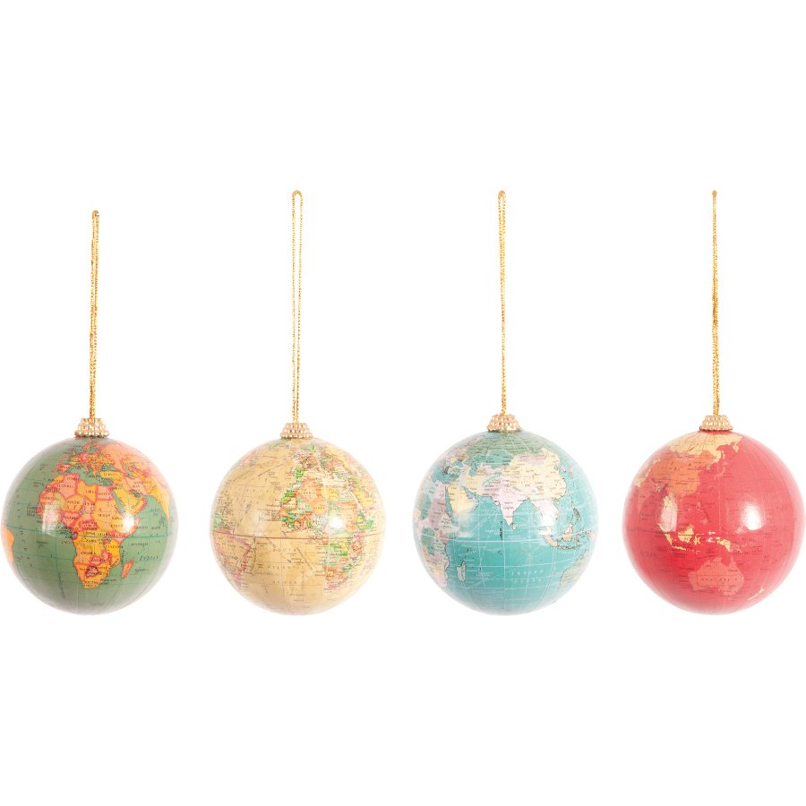 Christmas Globe Baubles - Set of 4 - Natural Collection Select