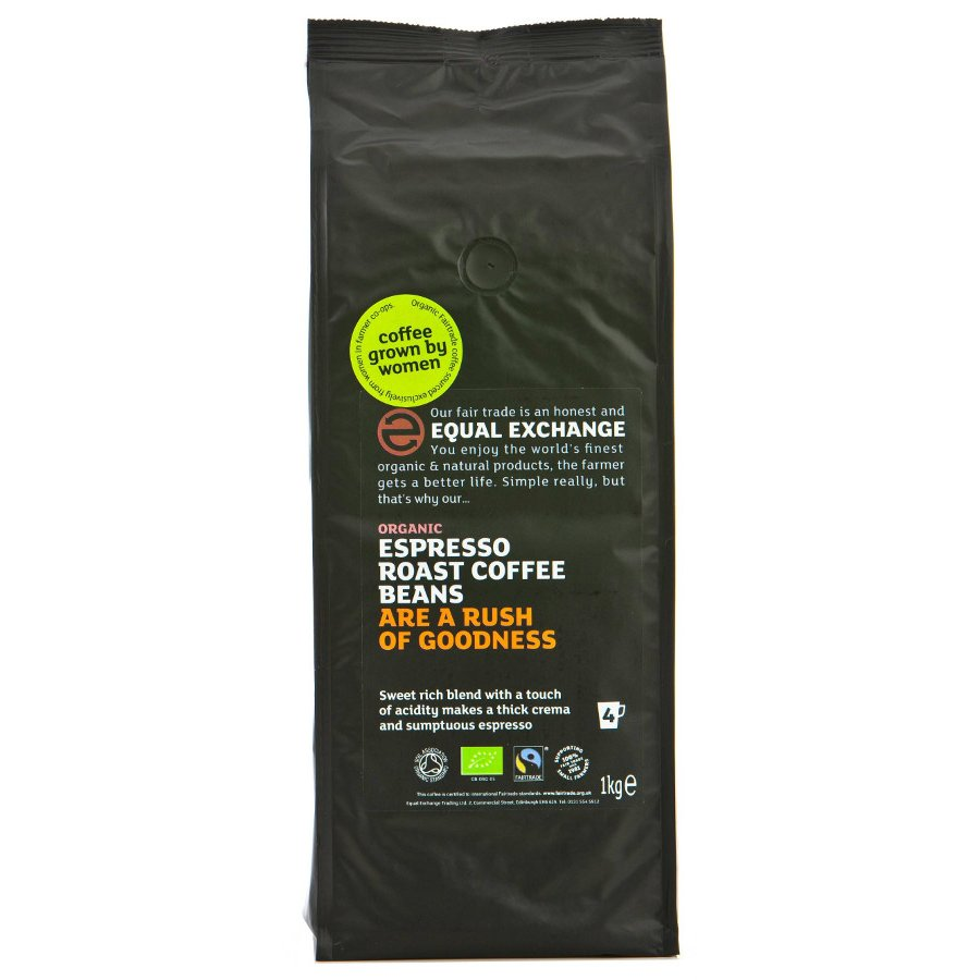 Equal Exchange Organic Espresso Coffee Whole Beans 1kg