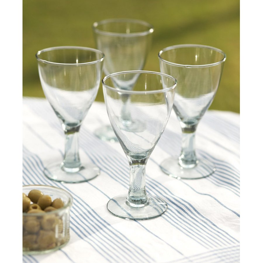 cdd352a3df4 Traidcraft Recycled Wine Glasses (4) - Ethical Superstore