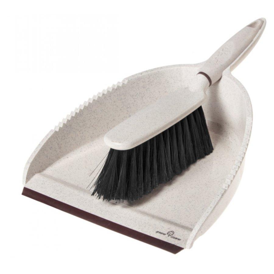 Greener Cleaner Dustpan & Brush - Cream - Greener Cleaner