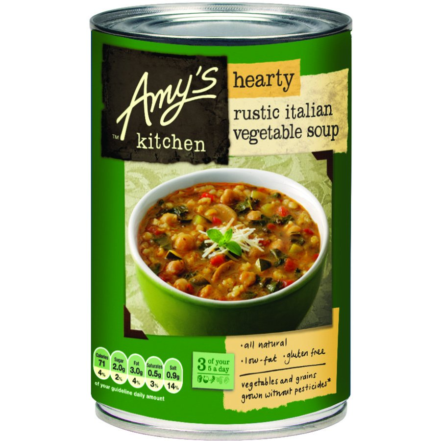 Amy\'s Kitchen Hearty Rustic Italian Vegetable Soup - 397g - Amy\'s ...