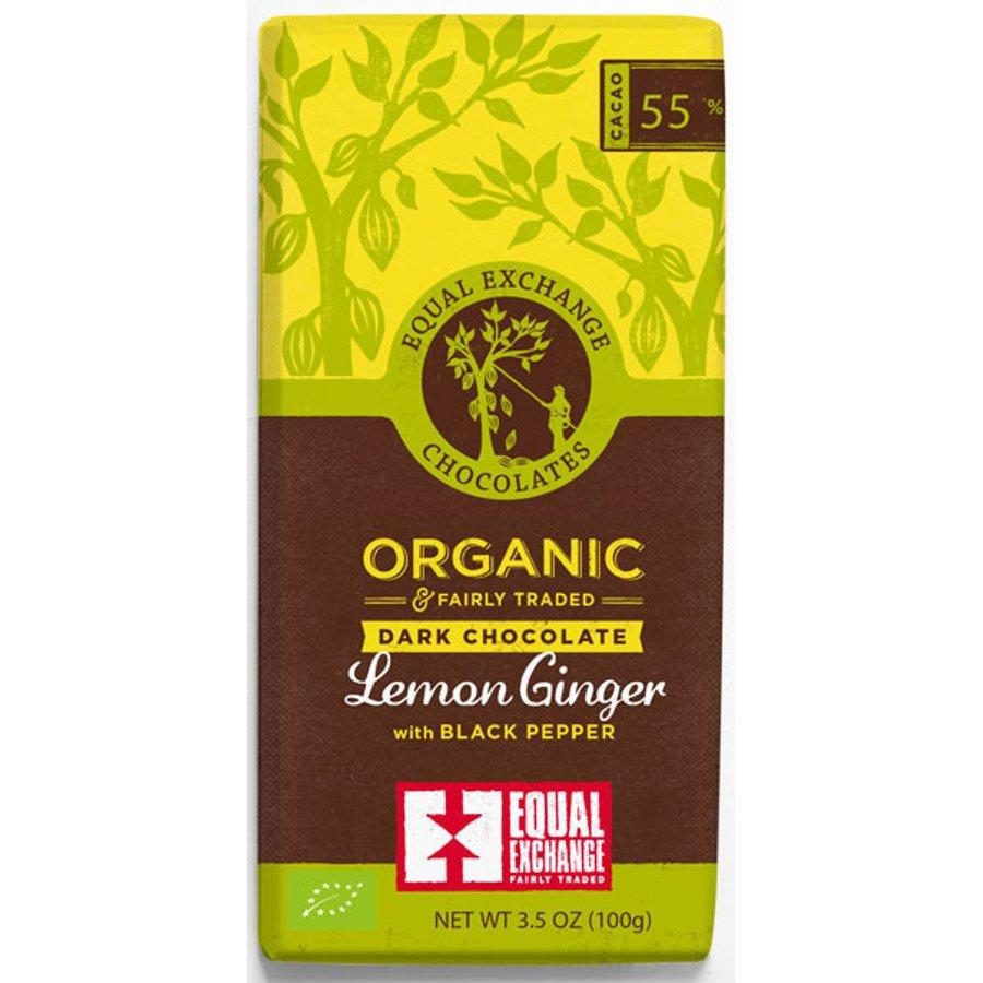 Equal Exchange Organic Lemon Ginger With Black Pepper Chocolate ...