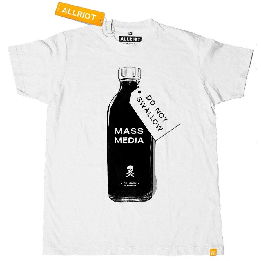 3a83ccc84e71 All Riot 'Mass Media' Political T-Shirt - All Riot