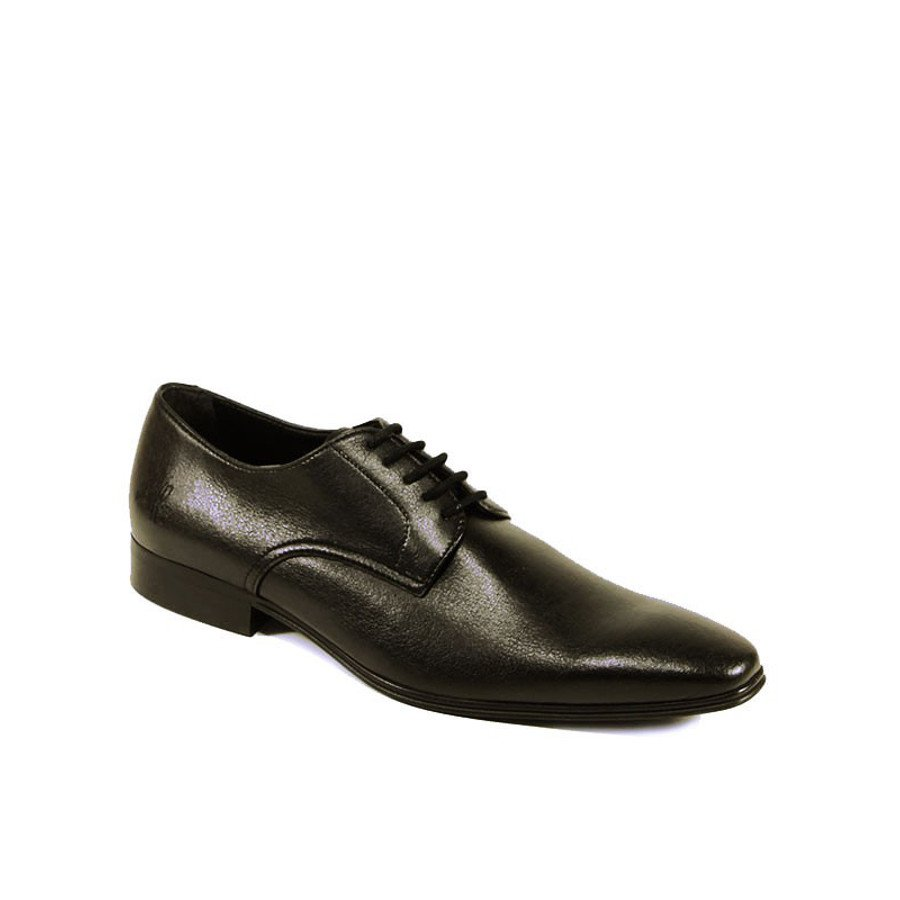 Wills London Mens Vegan Slim Sole Smart Shoes -Black ...