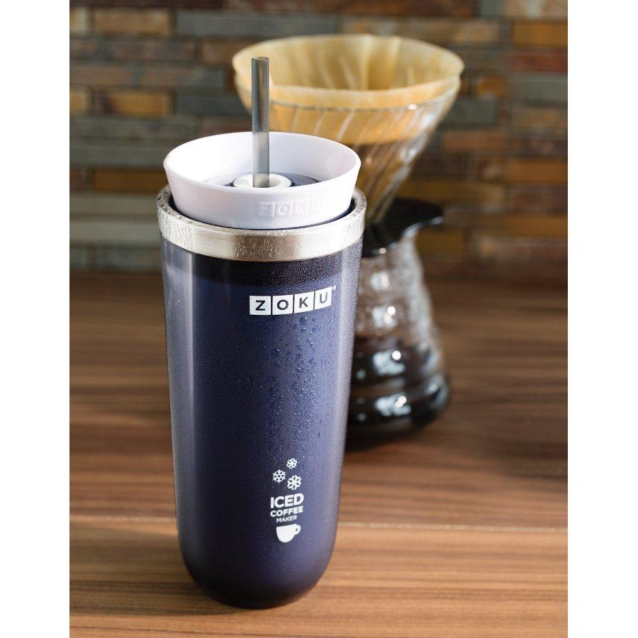 Zoku Iced Coffee Maker Recipes : Zoku Iced Coffee Maker - Slate Blue - Zoku