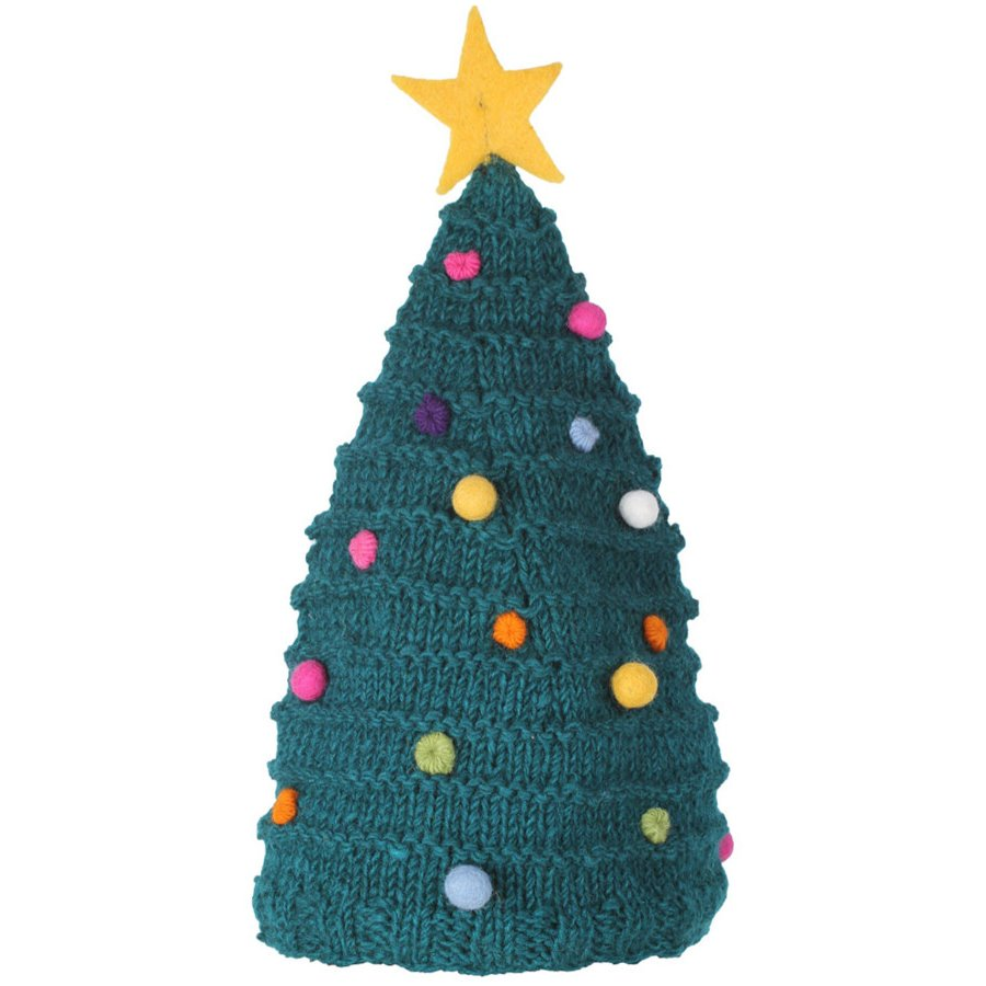 Christmas Tree Hats: Knitted Christmas Tree Hat