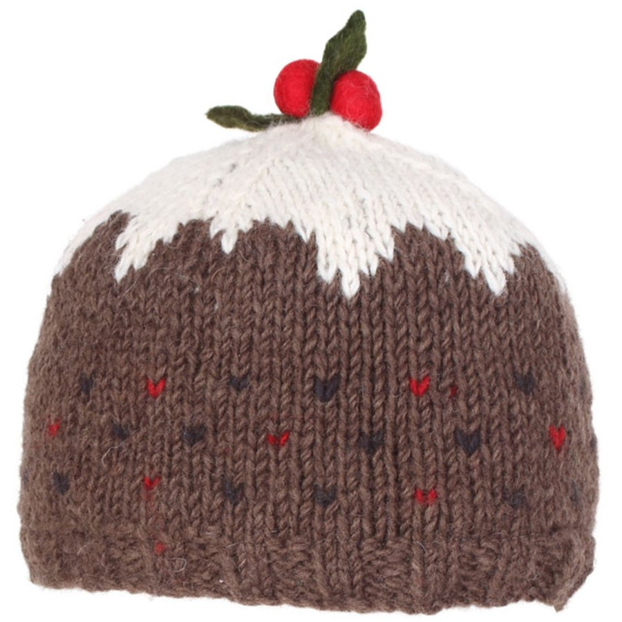 Knitting Pattern Christmas Pudding Hat Baby : Knitted Christmas Pudding Hat - Pachamama
