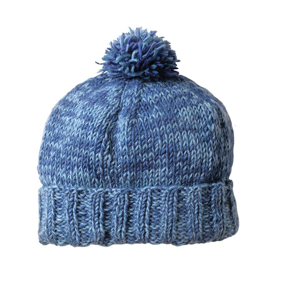 Mens Bobble Hat Knitting Pattern : Mens Zurich Knitted Bobble Hat - Denim - Pachamama