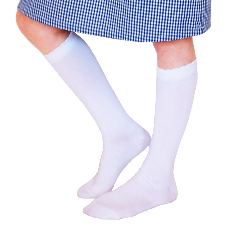 4b2469132 Organic Cotton Knee High School Socks - White - Ecooutfitters
